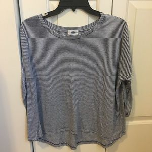 Striped long sleeve top size small